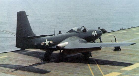 FH-1 Phantom on USS Saipan May 1948 - McDonnell FH Phantom - Wikipedia