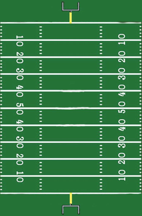 Print out this football field and let your kids track the ball (and learn how to pay attention to the game) with board game pieces or even M&M's