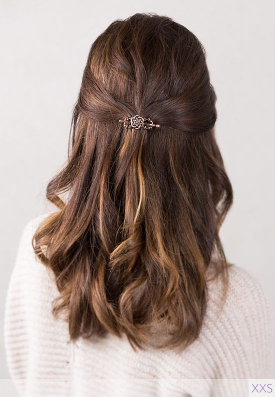 Classy Half Up For Your Quick Morning Routine Lillarose Flexi Celtic Hair Hai Prom Hairstyles For Short Hair Down Hairstyles Half Up Half Down Hair Prom