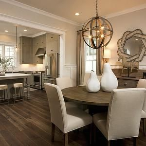 Palmetto Bluff -  -  neutral walls, tan walls, tan wall color,  ivory parsons dining chairs