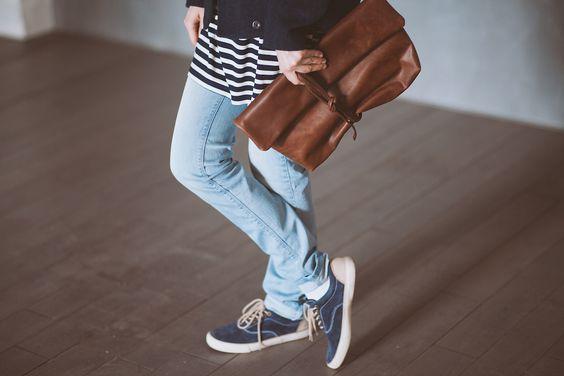 Maple | Handmade leather clutch