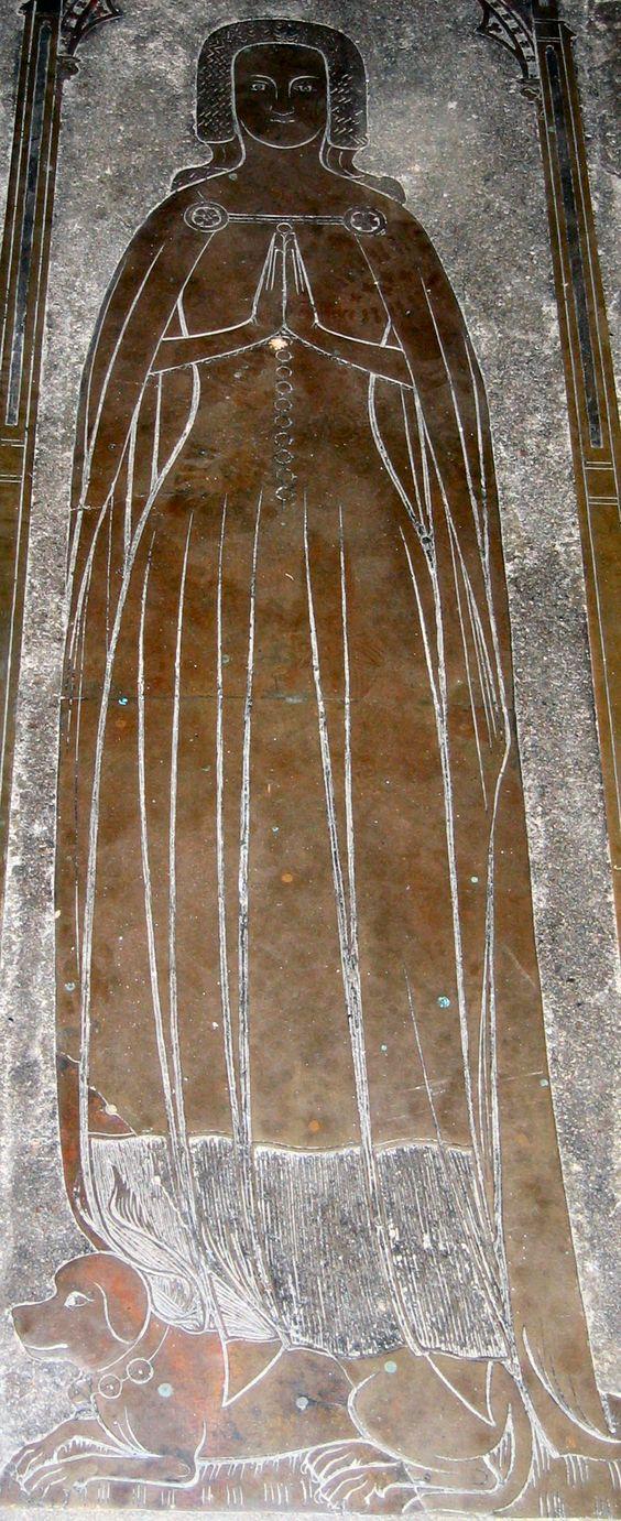 2005 Cobham Church Maude de Cobham 1380 44.jpg (936×2292) Funeral Brass