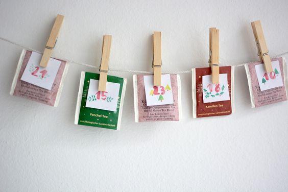 we love handmade | DIY: Tee-Adventkalender plus Freebie | http://welovehandmade.at