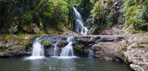 Elabana Falls in the Green Mountains, Lamington National Park   swimming holes near Brisbane
