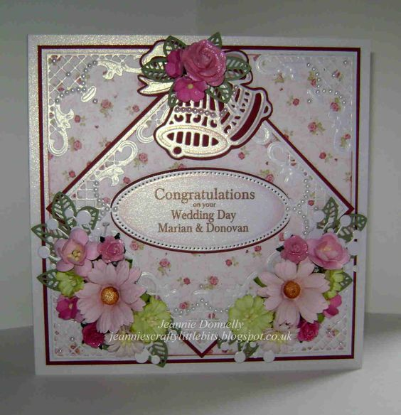 Wedding day card using the die sire jingle bells