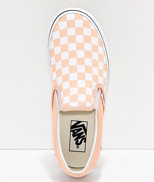 White Checkerboard Skate Shoes