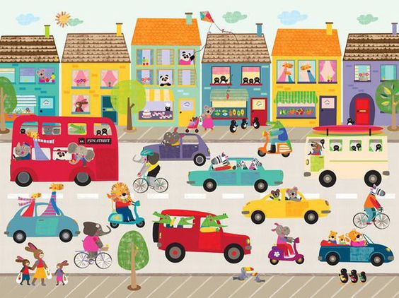 Fun Street Frenzy Canvas Art