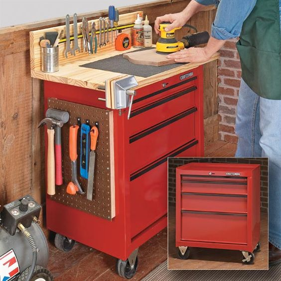 Tool Benches Garage : Diy workbench socket set and bob vila on pinterest