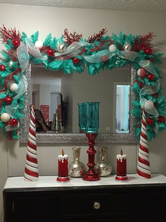 Teal and red christmas!