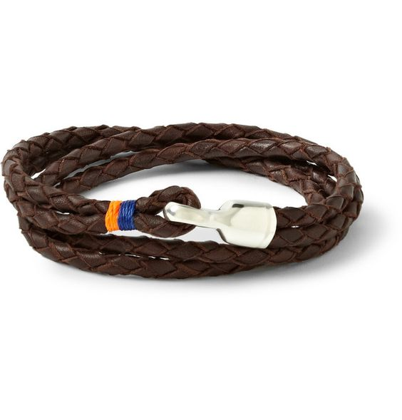 Trice Woven-Leather Bracelet by Mr Porter