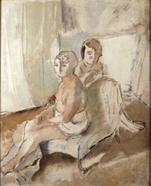 Jules Pascin (1885-1930), Margot et Madeleine, huile sur toile signée, titrée et datée 1927, 88 x 72 cm. Estimation : 28 000/30 000 €. Dimanche 28 juin, Versailles. Éric Pillon Enchères SVV.