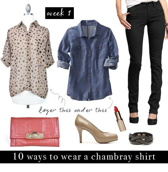 10 ways to wear a chambray shirt