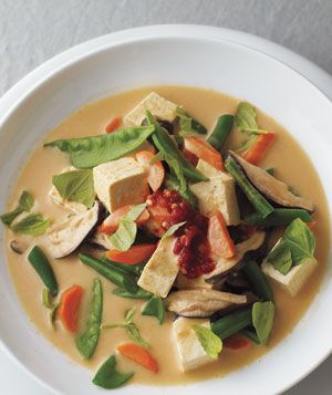 Thai Curry Vegetable and Tofu Soup Recipe. Seriously best soup ever.