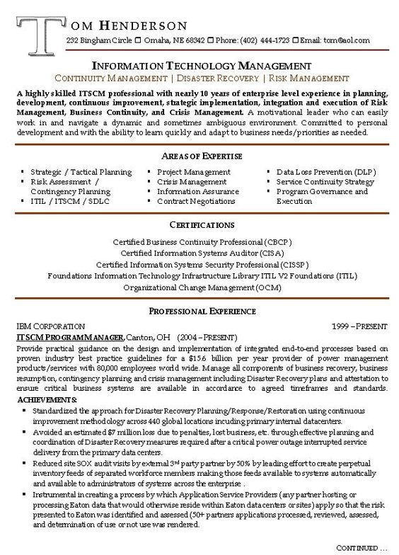 management resume example sample resumes risk manager prepared - international business resume sample