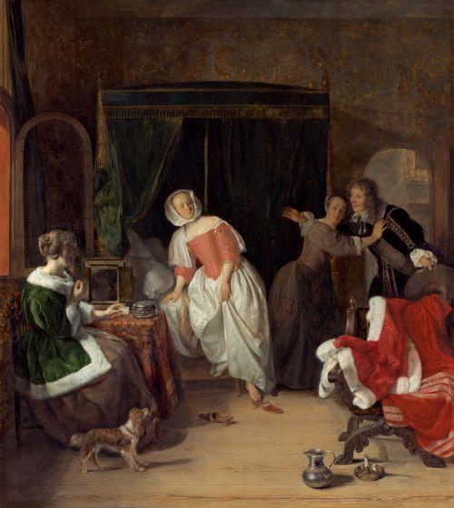 Metsu, Gabriel Dutch, 1629 - 1667 The Intruder c. 1660