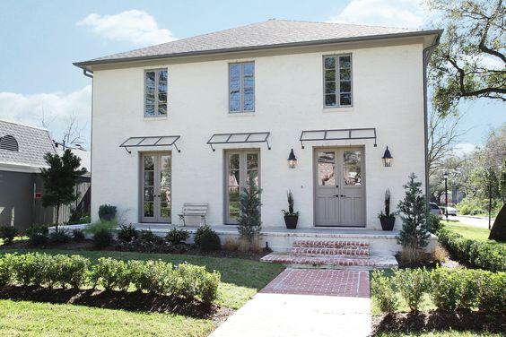 White Brick Gray Trim Door Home Exteriors Pinterest