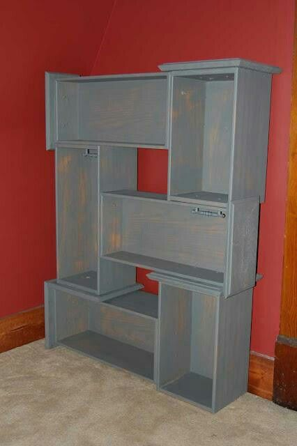 Repurposed dresser drawers- Good use of the drawers I won't use when I redo this dresser.