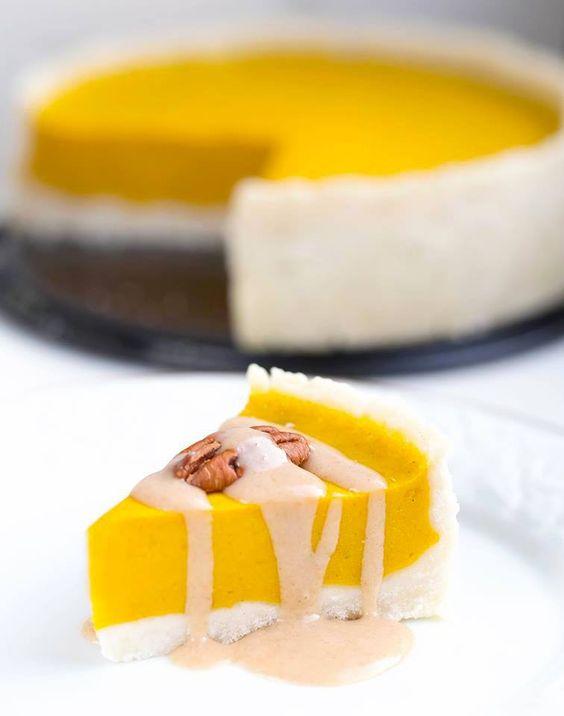 Glutenfreier Kürbis Kuchen - vegan und sojafrei