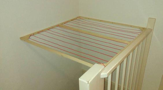 Diy wasrek boven trapgat zolder pinterest doe het zelf for Trapgat maken