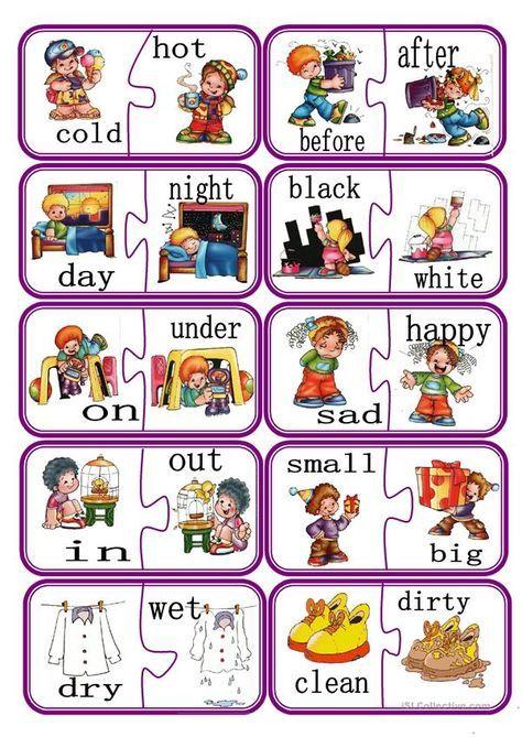 Pin On For Kids Free printable opposites worksheets for