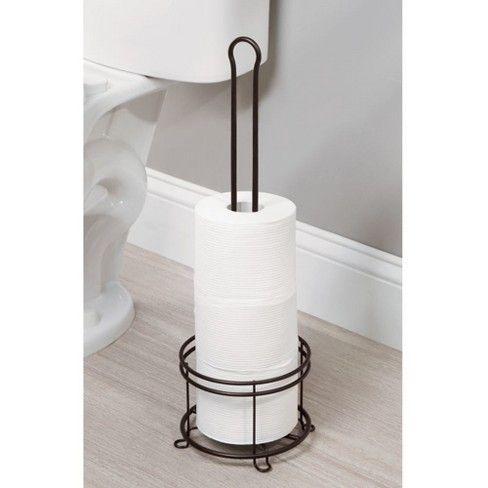 3 Roll Freestanding Toilet Tissue Holder Bronze Threshold Free Standing Toilet Paper Holder Toilet Paper Holder Tissue Holders