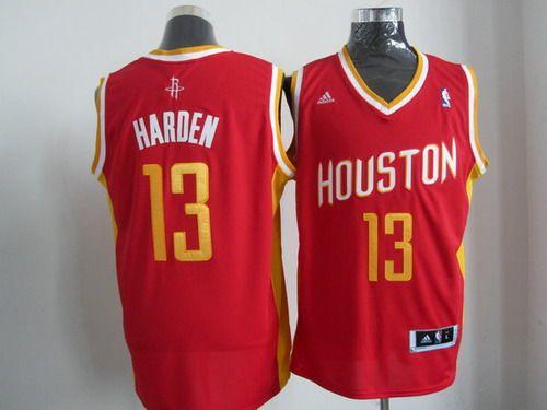 Adidas Houston Rockets #13 James Harden Red NBA Revolution 30 Jerseys-yd