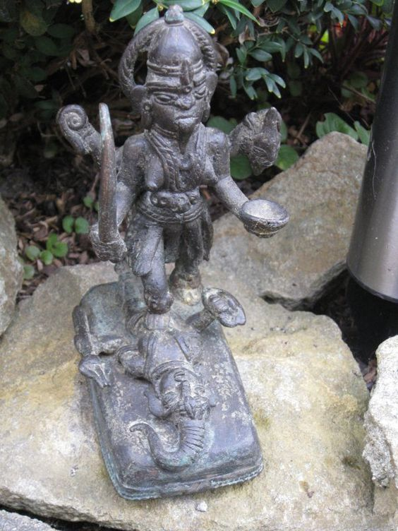 Description:  A super rare bronze figure of Kali, eastern India, probably Bengal.      Height: 16 cm Width / Diameter: 7 cm Depth: 11 cm    Item Date: 18th/19th century.    If you would like to buy or sell Asian Antiques please contact us at info@collectorstrade.de