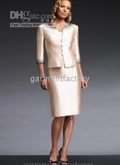 2010 modern style 2 peice satin mother of the bride dress for Grandmother dresses for summer wedding