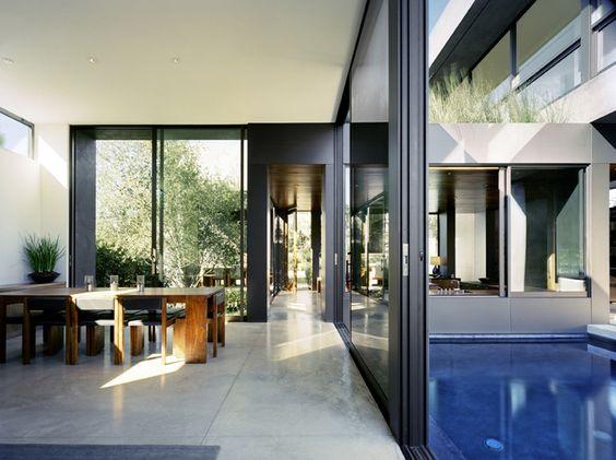 Landschaft pool sommerhaus marmol radziner