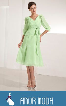 Mother of the Bride Dress With Ruffle Bow(s)  at an affordable price of $147.99 #MotheroftheBrideDress