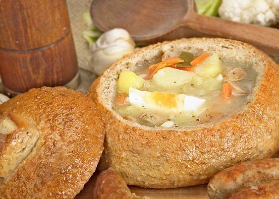 Save Print Zurek / Zur (Polish Sour Rye Soup) Author:Everywhere Fare Recipe type:Soup, Side Dish Cuisine:Polish, Eastern European Prep ti