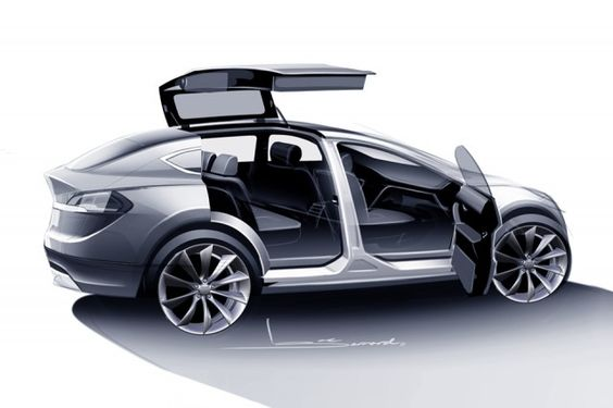 Model X Sketch is not far from the production beta vehicles.
