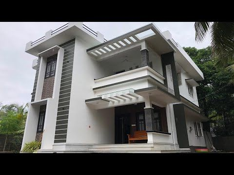 New Double Story Home For 35 Lakh With Amazing Interiors Video Tour Youtube Modern House Design House Design Exterior Design