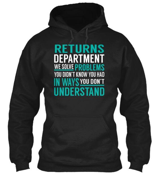 Returns Department - Solve Problems