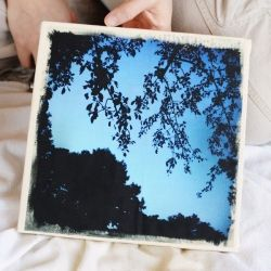 Transfer your own photos to canvas using iron-on transfer paper. Love this idea!
