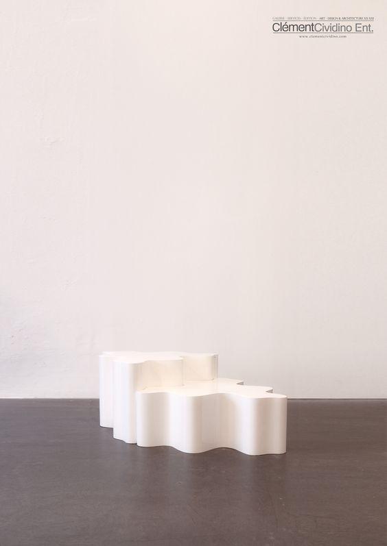 cylindrique table puzzle  by Les Simonnet  Gallery Clément Cividino  www.clementcividino.com  #simonnet #art #sculpture #frenchmodernism #midcentury #collectibledesign #clementcividino