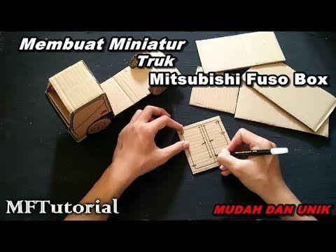 Cara Membuat Miniatur Truk Fuso Box Dari Kardus Ide Kreatif Youtube Miniatur Truk Wooden Toys Plans Ide Kreatif