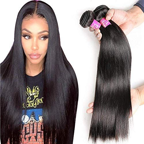 Best Seller Brazilian Straight Hair With Closure 3 Bundles