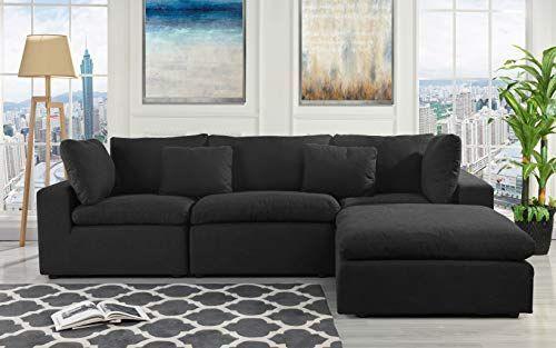 Konfigurierbare Anbausofa Couch Umwandelbares Anbausofa Mit Umkehrbarer Chaiselongue 3 Teilig Sonderausstattung Schwarze Wohnzimmer Weisses Wohnzimmer Sofa