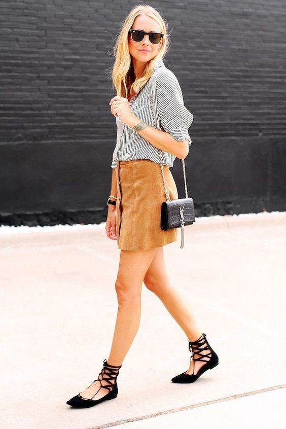 Chic Ways to Wear Lace-Up Flats | Glam Radar