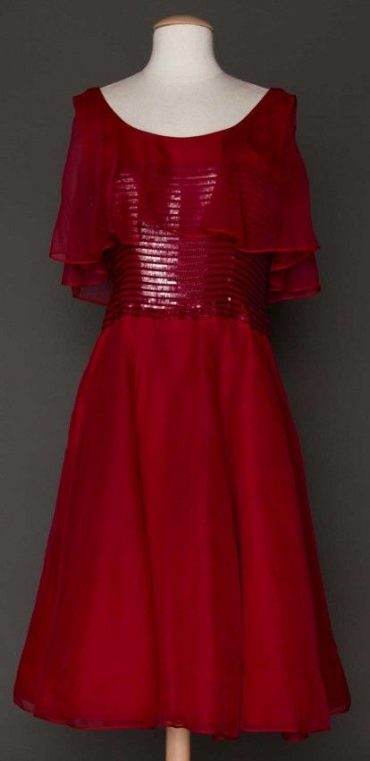DIOR COUTURE RED GOWN, FALL 1961 $1500