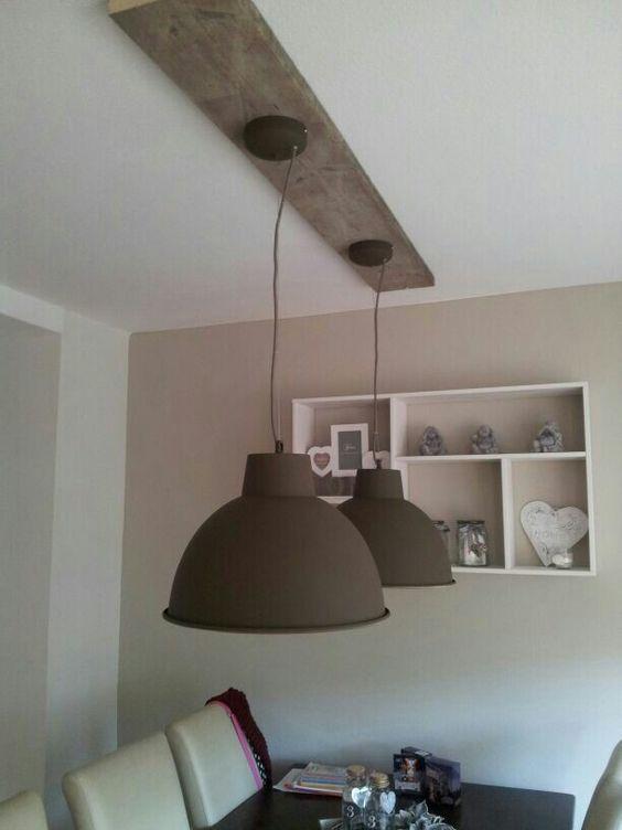 Mooi! Steigerhout/plafond/lampen : steigerhout : Pinterest