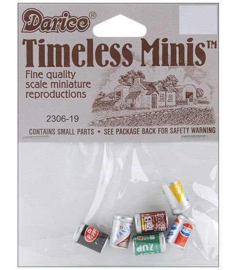 Darice Timeless Miniatures-Assorted Soda Cans