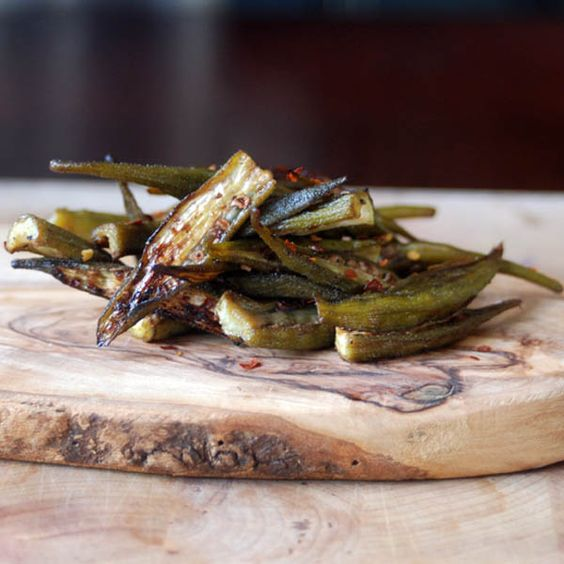 Spicy Szechuan Roasted Okra Recipe - Love and Duck Fat