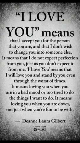 Important Sayings I Love You Means True Quotes Love Quotes