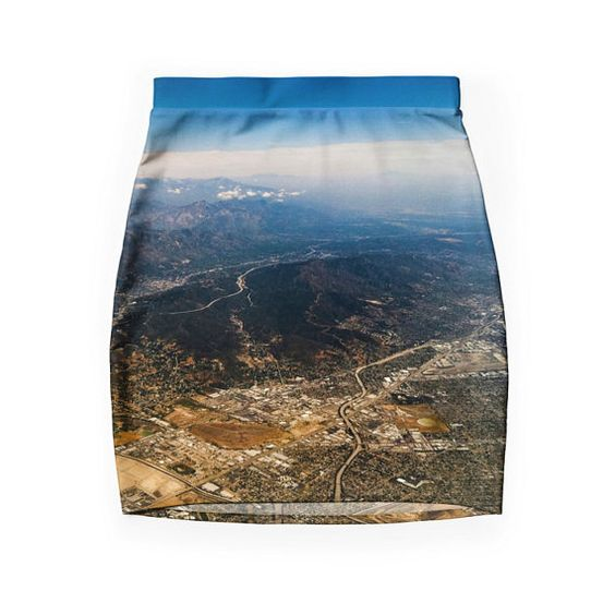 Burbank Skirt II  Aerial Photography  Bodycon  by DifferentCity