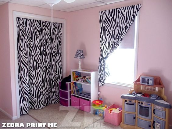 zebra curtain for closet cat 39 s bedroom pinterest window zebra
