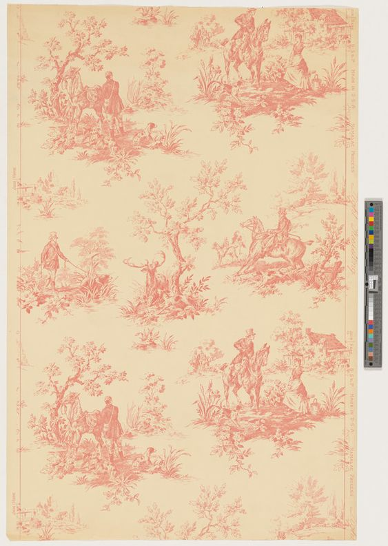 Unused Wallpaper Sample | Becker, Smith & Page, Inc. (Manufacturer) | 2008.6.51 -- Historic New England