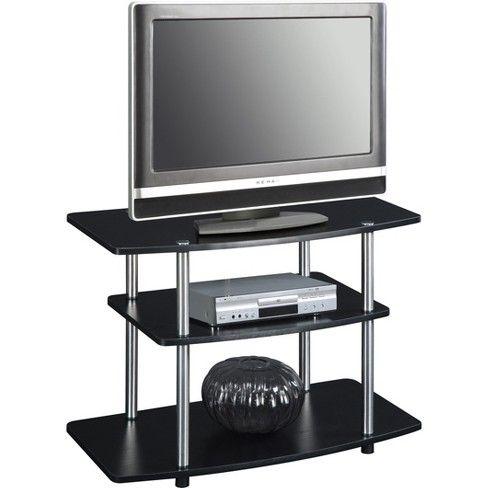 32 3 Tier Tv Stand Black Johar Furniture Flat Screen Tv Stand