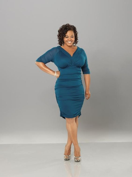Jill Scott is looking TEAL-rrific in the Betsey Ruched ...